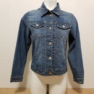 Arizona jacket XL denim jean sequin rhinestone